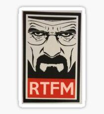 Breaking Bad RTFM Sticker