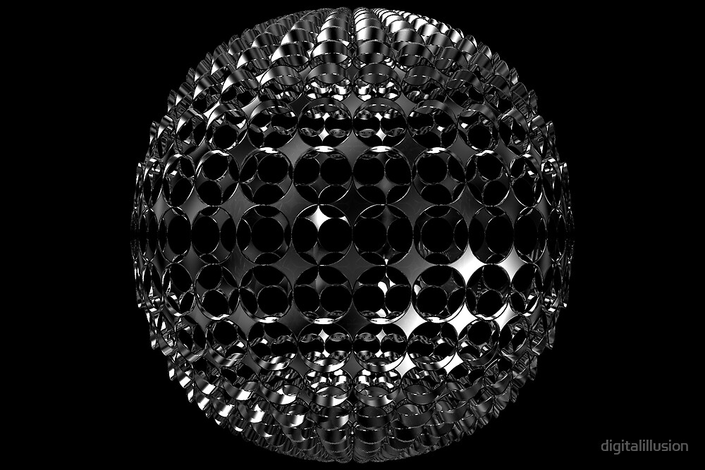 Sphere with holes by digitalillusion