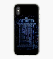 Doctor Who Quotes iPhone Case