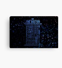 Doctor Who Quotes Canvas Print