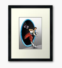 Fanart Portal - Chell and GLaDOS Framed Print