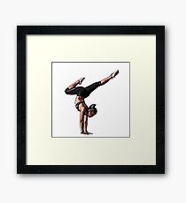Comic Yoga Woman Framed Print