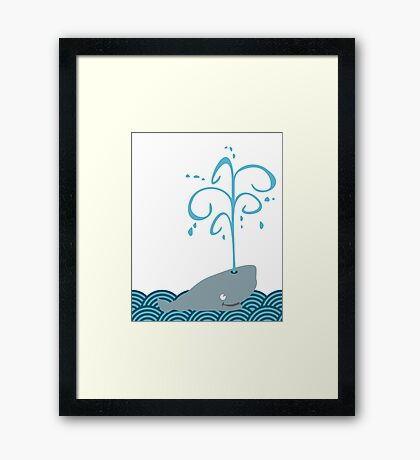 Whale in the sea VRS2 Framed Print