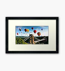 Bristol city balloons Framed Print