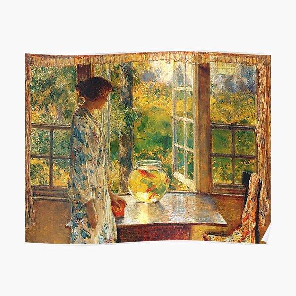 Vintage Childe Hassam Bowl of Goldfish 1912  Fine Art Poster