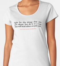 "Fight for the...""Ruth Bader Ginsburg"" Inspirational Quote Women's Premium T-Shirt"