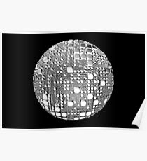 Sphere pulled square lumps Poster