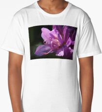 Gorgeous Violet Rhododendron Bloom Long T-Shirt