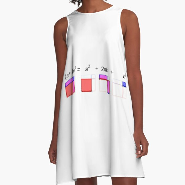 Visualization of Binomial Expansion to the 2nd Power #Visualization #Binomial #Expansion #Power A-Line Dress