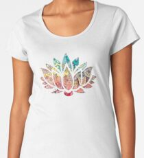 Kundalini Yoga - Kundalini Chakra Shirt - Kundalini Lotus Flower Women's Premium T-Shirt