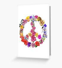 Floral Peace Symbol  Greeting Card