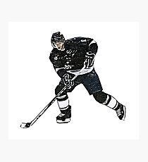 Comic ice hockey player Photographic Print