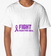 Eat Sleep Fight Premature Birth Awareness Repeat T Shirt Long T-Shirt