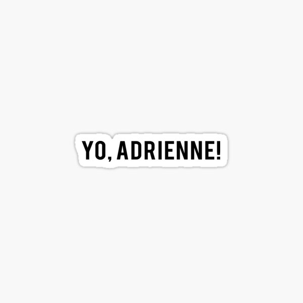 ¡Yo, Adrienne! Camiseta Rocky Balboa Pegatina