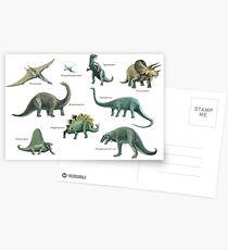 Dinosaur montage Postcards