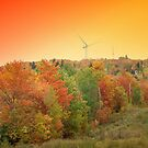 Maine Windmill At Sunset 1 by Gene Cyr