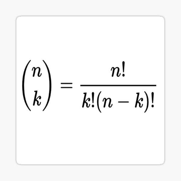 #Binomial #Coefficient, #BinomialCoefficient, #Mathematics, Theorem, Integer, Number, Math Sticker