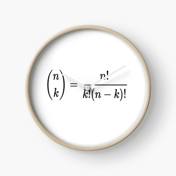 #Binomial #Coefficient, #BinomialCoefficient, #Mathematics, Theorem, Integer, Number, Math Clock