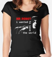 Elliot - Mr Robot Women's Fitted Scoop T-Shirt