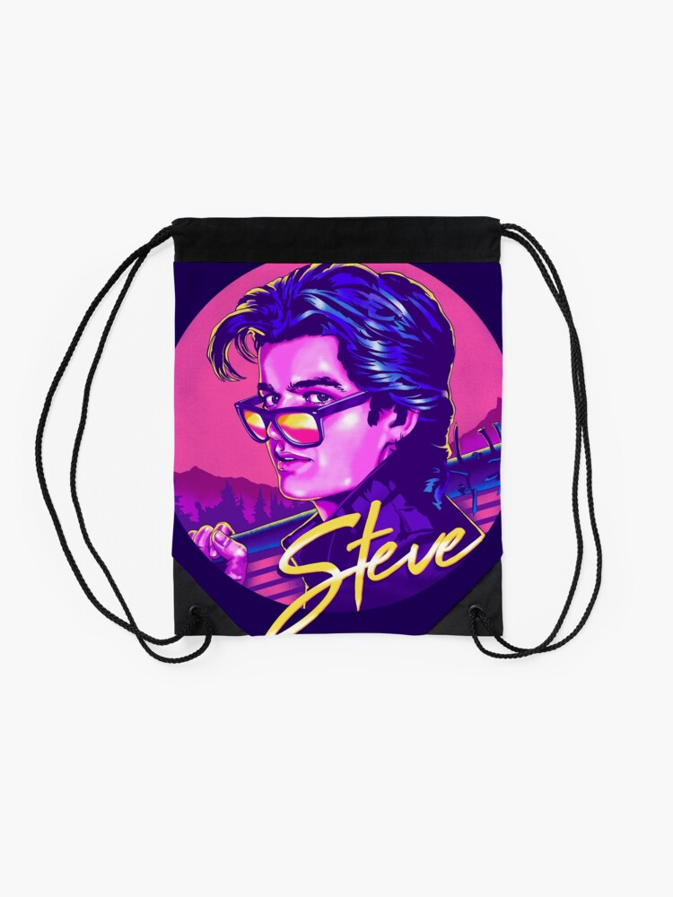 Alternate view of Stranger Things Steve Harrington Drawstring Bag