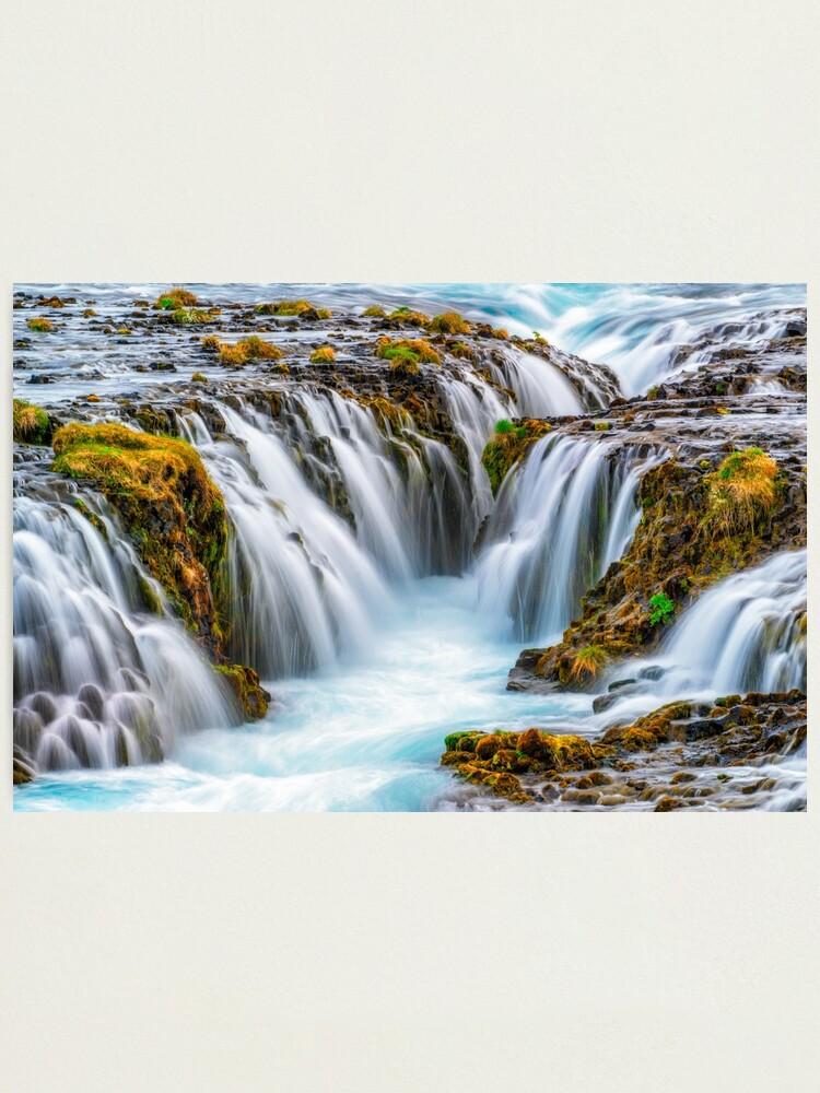 Alternate view of Bruarfoss, Iceland Photographic Print