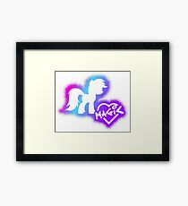Magic Love - Pink Rainbow Framed Print