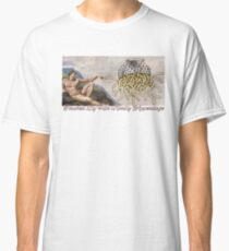 FSM Creation of Adam Touched By His Noodly Appendage Pastafarian Flying Spaghetti Monster Classic T-Shirt