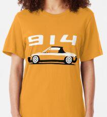 Porsche 914 Seite Slim Fit T-Shirt