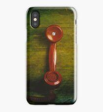 British retro red phone iPhone Case/Skin