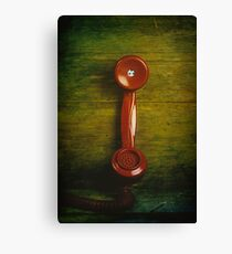 British retro red phone Canvas Print