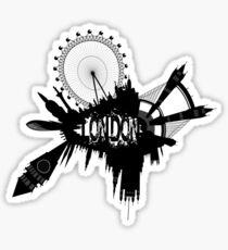 London Skyline In Grunge Style Sticker