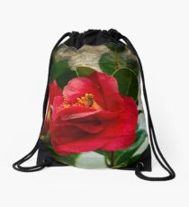 Bee and the Flower Texturized Drawstring Bag