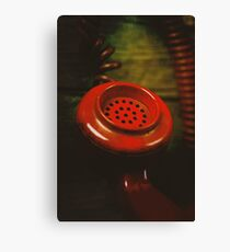 Red Retro Phone Canvas Print