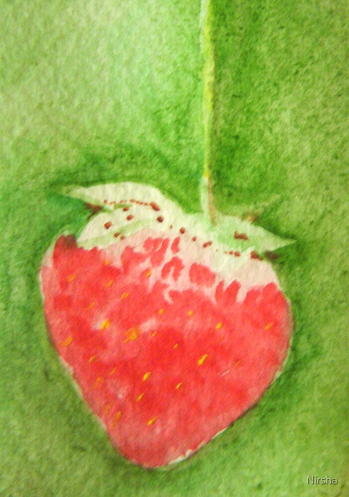 My first strawberry by Nirsha