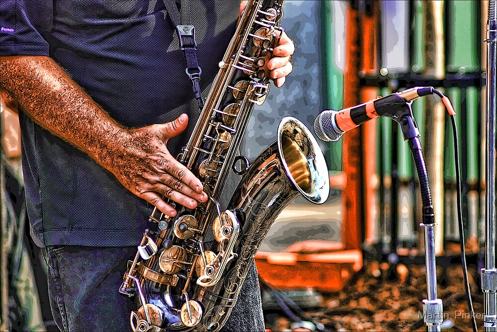 Sax Two by Martin  Pinker