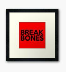 Break Bones Daniel Cormier Framed Print