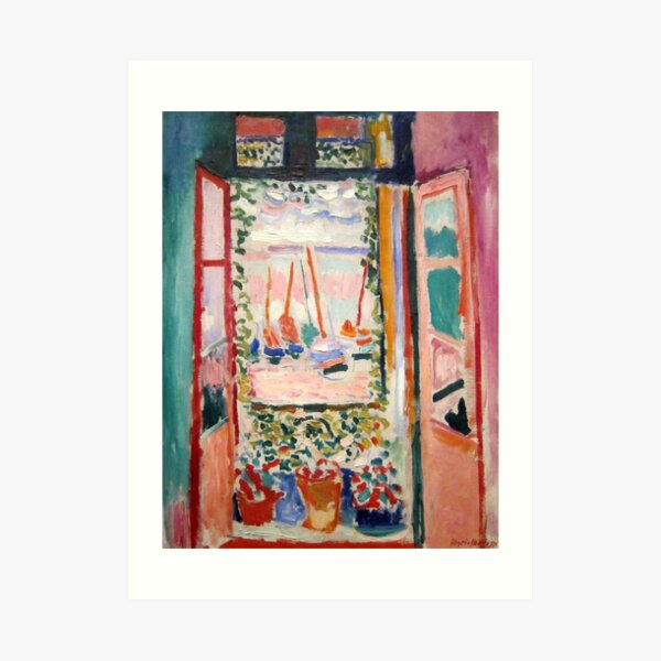 The Open Window- Henri Matisse Art Print