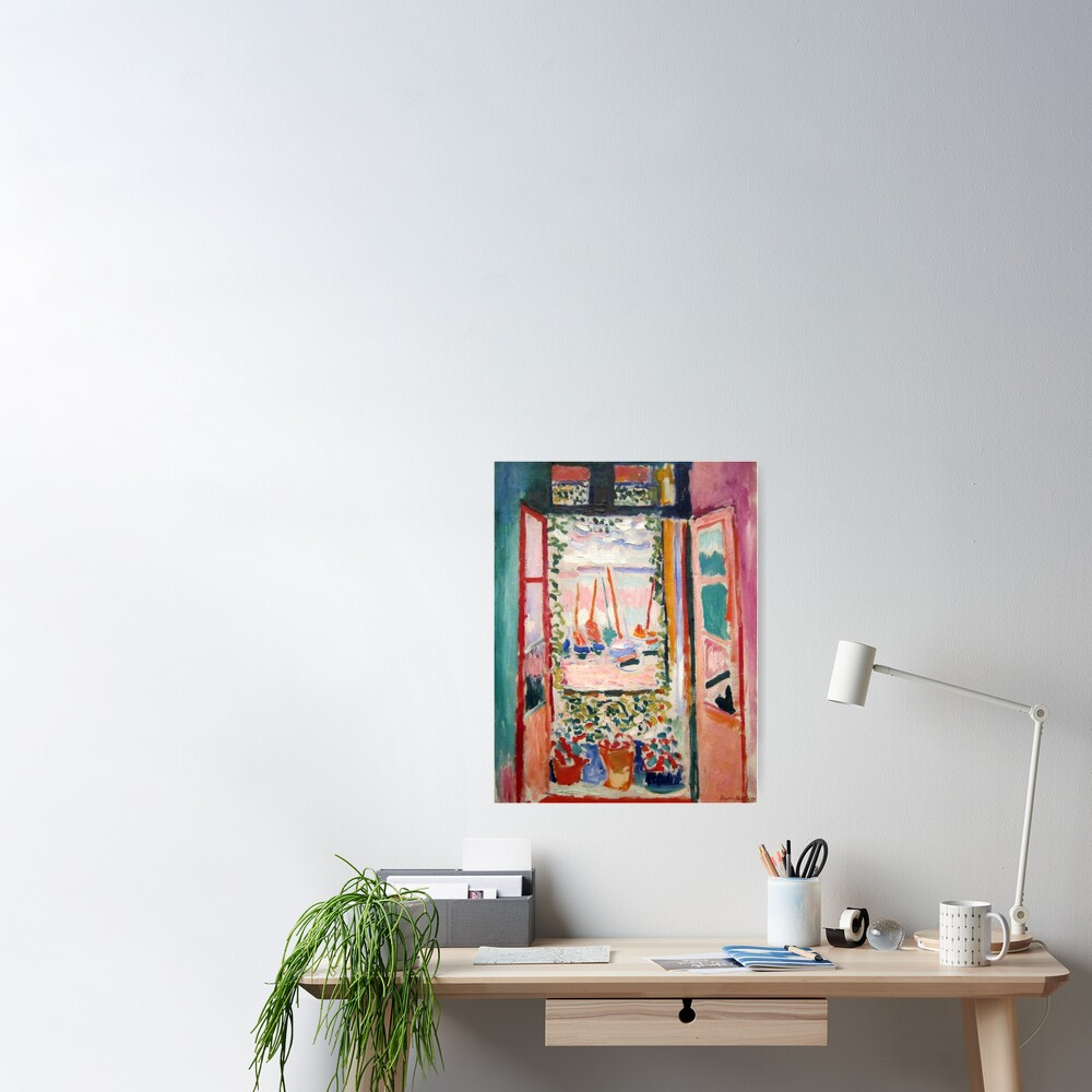 The Open Window- Henri Matisse Poster