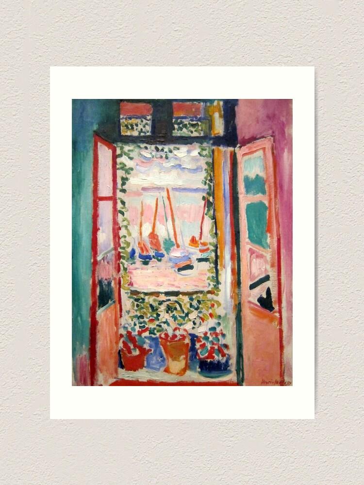 Alternate view of The Open Window- Henri Matisse Art Print