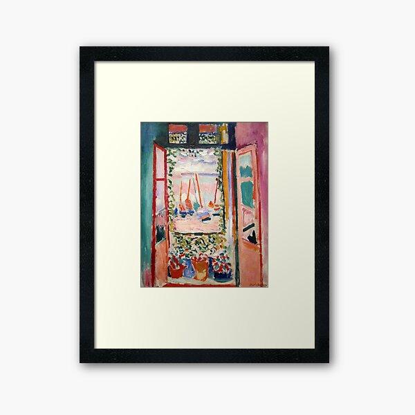 The Open Window- Henri Matisse Framed Art Print