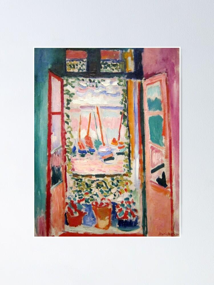 Alternate view of The Open Window- Henri Matisse Poster