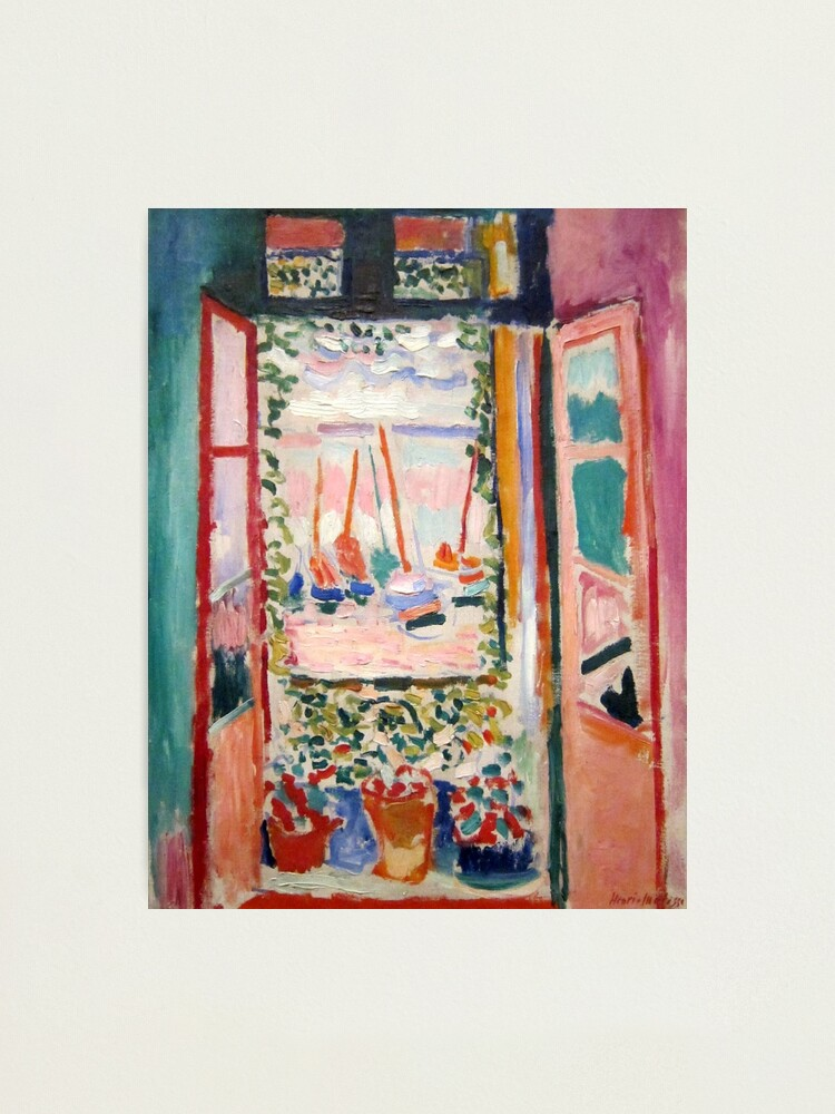 Alternate view of The Open Window- Henri Matisse Photographic Print