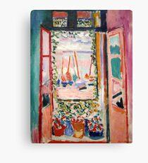 The Open Window- Henri Matisse Canvas Print