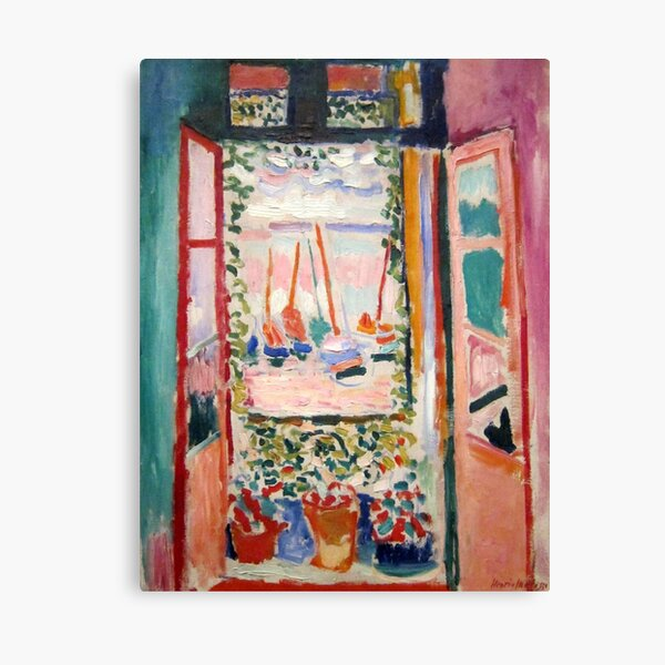 The Open Window- Henri Matisse Canvas Print