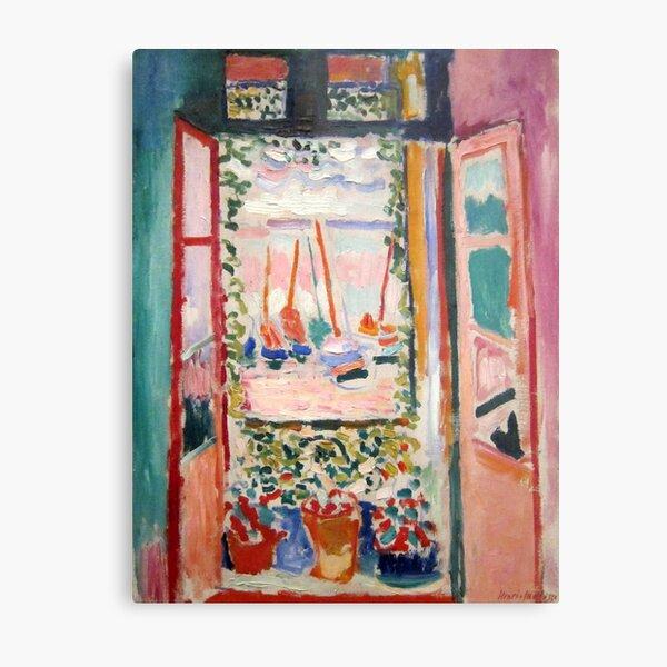 The Open Window- Henri Matisse Metal Print