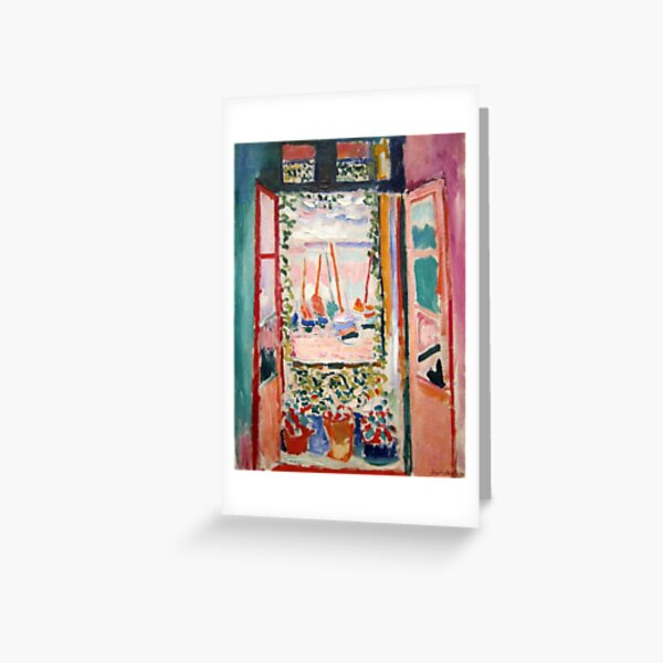 The Open Window- Henri Matisse Greeting Card