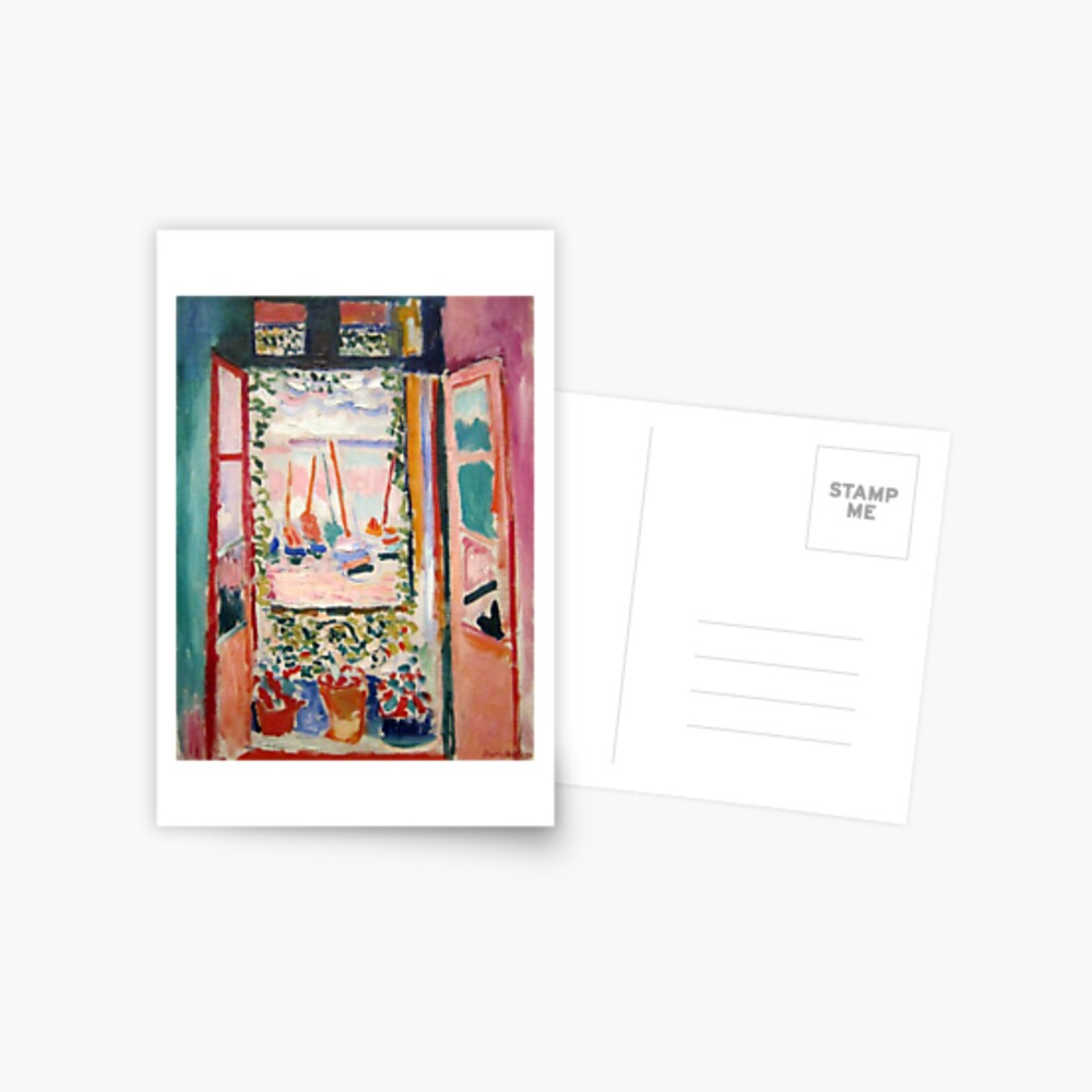 The Open Window- Henri Matisse Postcard