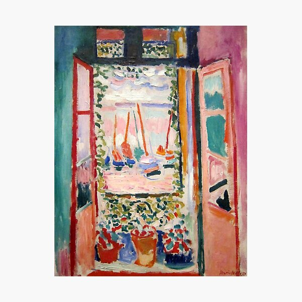The Open Window- Henri Matisse Photographic Print
