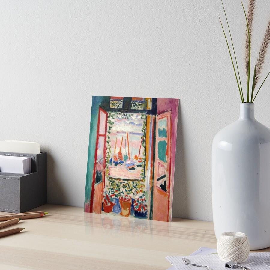 The Open Window- Henri Matisse Art Board Print