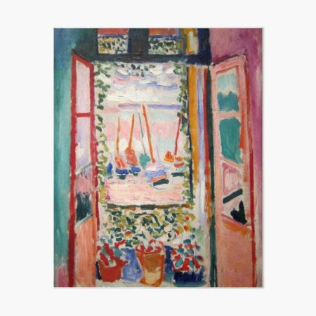 The Open Window- Henri Matisse Art Board Print